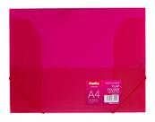 Teczka na gumkę A4 transparentna różowa PAT4003S/N/14 Patio