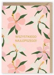 Kartka urodzinowa Kwiaty, eko koperta K015