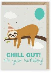 Kartka urodzinowa Chill Out, eko koperta K012