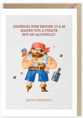 Kartka urodzinowa Pirat, eko koperta K100