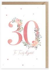Kartka urodzinowa 30, eko koperta K099