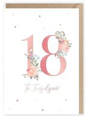 Kartka urodzinowa 18, eko koperta K098