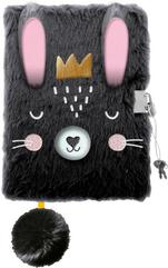Pamiętnik z kłódką 3D włochacz A5 96k linia Królik / Rabbit