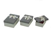 Pudełko Zestaw 3 ozdobnych pudełek mix 534308