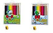 Kredki ołówkowe Jumbo BS 12 kolorów + temperówka