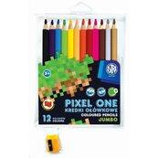 Kredki ołówkowe Pixel One 12 kolorów + temperówka