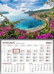 Kalendarz 2022 Ścienny Jednodzieny Lazurowe Wyb.