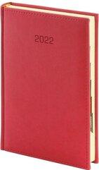 Kalendarz 2022 A4 Vivella tygodniowy Czerwony