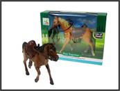 Koń z siodłem i uprzężą 2 kolory 20cm w pudełku 302AB