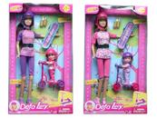 Lalka 29cm z deskorolką + lalka 9cm na hulajnodze 517455