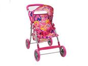 Wózek dla lalek spacerowy, kolorowe serca w pudełku 533868 ADAR