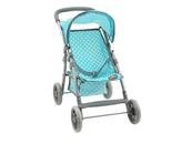 Wózek spacerowy dla lalek miętowy w kropki 533851 ADAR
