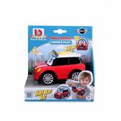 Bburago junior 8205 Mini Cooper śmijące się autko, czerwone