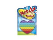 PLOP UP! / POP IT! Guma bąbelkowa tęczowe serce 13,5x15cm 620971 cena za 1 szt p24