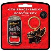 Zestaw brelok + otwieracz dla motocyklisty