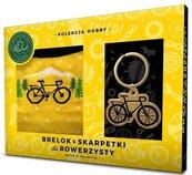 Zestaw brelok + skarpetki dla rowerzysty