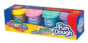 Masa plastyczna Fun Dough 4 kolory pastelowe z brokatem 34326 Colorino Creative