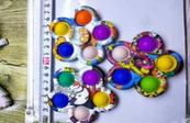 PROMO Zabawka sensoryczna antystresowa POP IT Spiner mozaika 5 ramion mix kolorów 1005345 cena za 1 szt