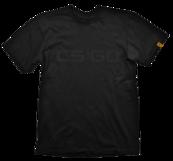 Counter Strike: GO T-Shirt Black On Black XL