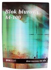 Blok biurowy A4 100k kratka 55g p5 cena za 1szt