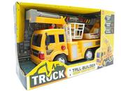 Auto Ciężarówka z wysięgnikiem koszowym i napędem, światło, dźwięk 525481