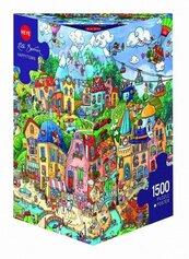 Puzzle 1500 Szczęśliwe miasto (Puzzle+plakat)