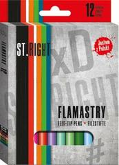 Flamastry 12 kolorów ST.RIGHT MAJEWSKI