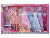Lalka z sukienkami i butami 517516