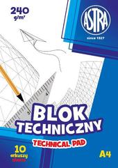 Blok techniczny A4/10K 240g 1szt ASTRA