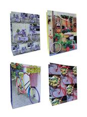 Torebka prezentowa Rower w kwiatach 553B 25x32x11cm p12, cena za 1szt