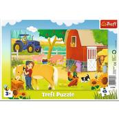 Puzzle 15el ramkowe Na farmie 31356 Trefl