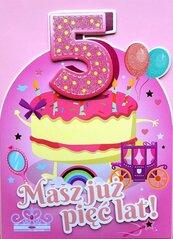 Karnet Urodziny 5 4K - 054