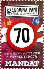 Karnet Urodziny 70 damskie JCX - 018