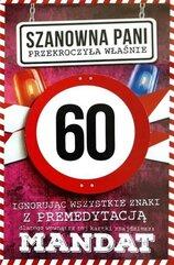 Karnet Urodziny 60 damskie JCX - 016