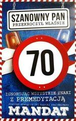 Karnet Urodziny 70 męskie JCX - 017