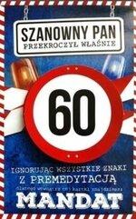 Karnet Urodziny 60 męskie JCX - 015