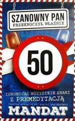 Karnet Urodziny 50 męskie JCX - 013