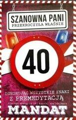 Karnet Urodziny 40 damskie JCX - 012