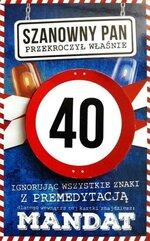 Karnet Urodziny 40 męskie JCX - 011