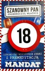 Karnet Urodziny 18 męskie JCX - 007