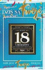 Karnet Urodziny 18 męskie + naklejka 2K - 007
