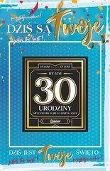 Karnet Urodziny 30 męskie + naklejka 2K - 008