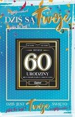 Karnet Urodziny 60 męskie + naklejka 2K - 011
