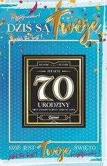 Karnet Urodziny 70 męskie + naklejka 2K - 012