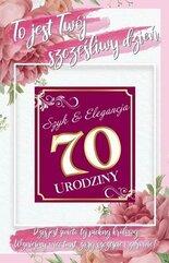 Karnet Urodziny 70 damskie + naklejka 2K - 006