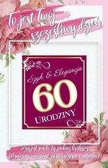 Karnet Urodziny 60 damskie + naklejka 2K - 005