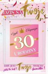 Karnet Urodziny 30 damskie + naklejka 2K - 002