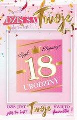 Karnet Urodziny 18 damskie + naklejka 2K - 001