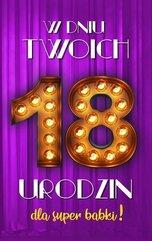 Karnet Urodziny 18 damskie 2K - 013