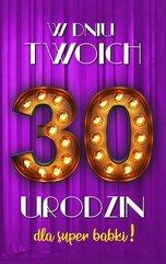 Karnet Urodziny 30 damskie 2K - 014